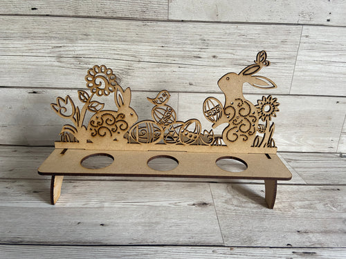 Wooden kinder egg holder - Laser LLama Designs Ltd