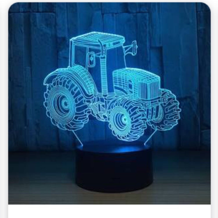 LED light Tracktor display- 9 colour options with remote! - Laser LLama Designs Ltd