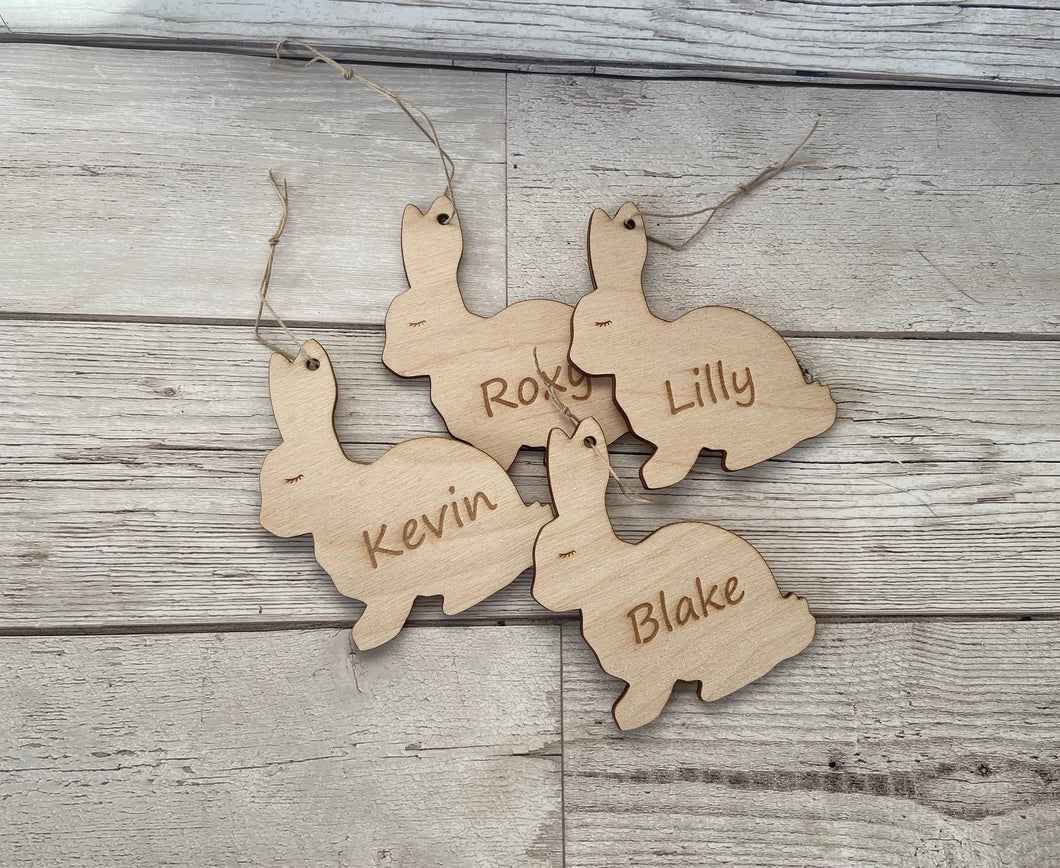 Wooden Personalised Easter Bunny - Laser LLama Designs Ltd
