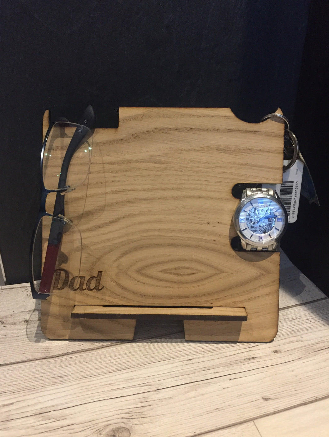Oak veneer docking station - Laser LLama Designs Ltd