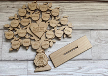 Load image into Gallery viewer, Wooden personalised freestanding  teacher tree - Laser LLama Designs Ltd