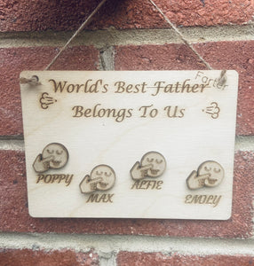 Wooden Personalised world best farter plaque
