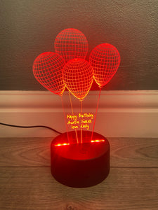 Birthday led light up display- 9 colour options with remote!