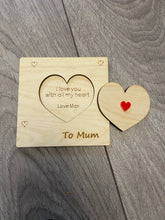 Load image into Gallery viewer, Wooden personalised 3d card Mother's day