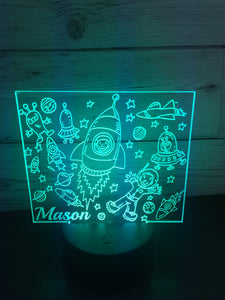 Led light space display. 9 colours and remote control! - Laser LLama Designs Ltd