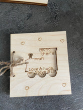 Load image into Gallery viewer, Wooden personalised Father's Day card -13 designs - Laser LLama Designs Ltd