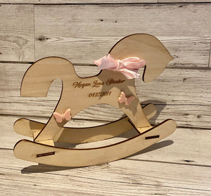 Personalised rocking horse - Laser LLama Designs Ltd