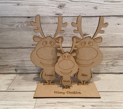 Christmas reindeer- build your own family