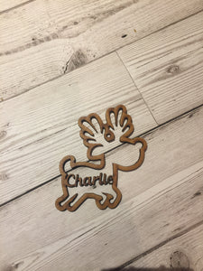 Mdf wooden personalised reindeer - Laser LLama Designs Ltd