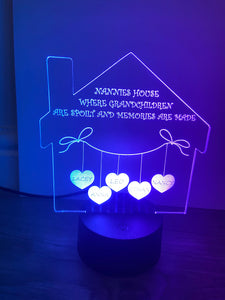 House LED light up display- 9 colour options with remote