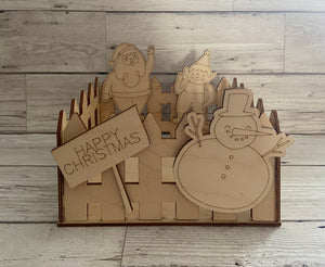 Wooden Christmas box/crate - Laser LLama Designs Ltd