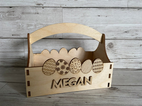 Personalised Easter  basket - Laser LLama Designs Ltd