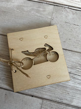 Load image into Gallery viewer, Wooden personalised motorbike card - Laser LLama Designs Ltd