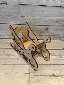 Wooden personalised Santa sleigh