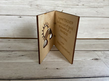 Load image into Gallery viewer, Wooden personalised teacher card - Laser LLama Designs Ltd