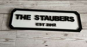 Personalised acrylic street sign