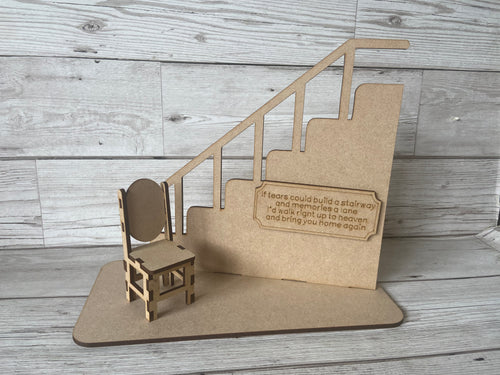Wooden stairs and chair - If Tears Could Build A Stairway mdf