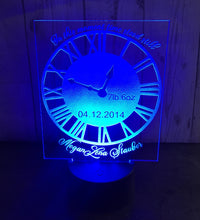 Load image into Gallery viewer, New baby light up clock display- 9 colour options with remote!