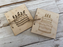 Load image into Gallery viewer, Wooden personalised birthday card - Laser LLama Designs Ltd