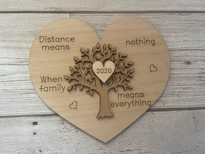 Wooden family tree plaque -2020 - Laser LLama Designs Ltd