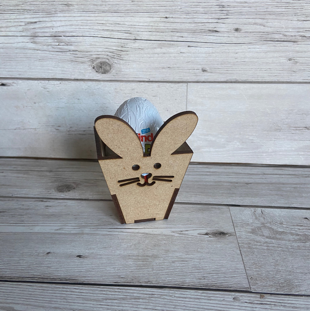 Wooden bunny egg holder - Laser LLama Designs Ltd