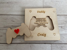Load image into Gallery viewer, Wooden personalised 3D game controller card - Laser LLama Designs Ltd