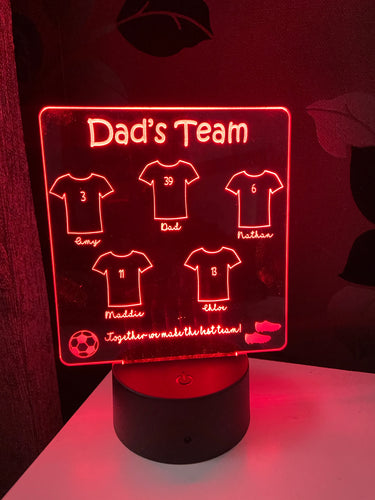 Dad's team led light display- 9 colours options with remote !
