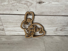 Load image into Gallery viewer, Wooden personalised bunny - Laser LLama Designs Ltd