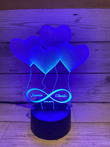 Light up 3D Infinity display. 9 Colour options with remote! - Laser LLama Designs Ltd