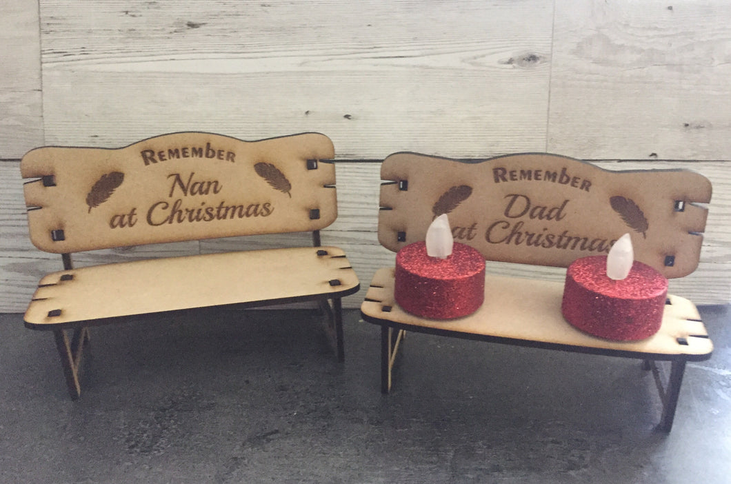 Wooden Christmas Memorial Bench - Laser LLama Designs Ltd
