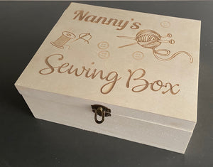 Personalised Sewing Box - Laser LLama Designs Ltd