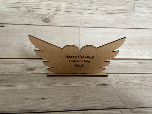 Freestanding wooden wings - Laser LLama Designs Ltd