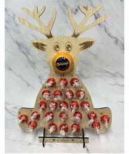 Load image into Gallery viewer, Wooden personalised reindeer advent calendar