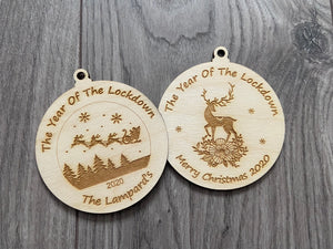 A year of the lockdown bauble - Laser LLama Designs Ltd