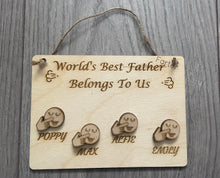 Load image into Gallery viewer, Wooden Personalised world best farter plaque