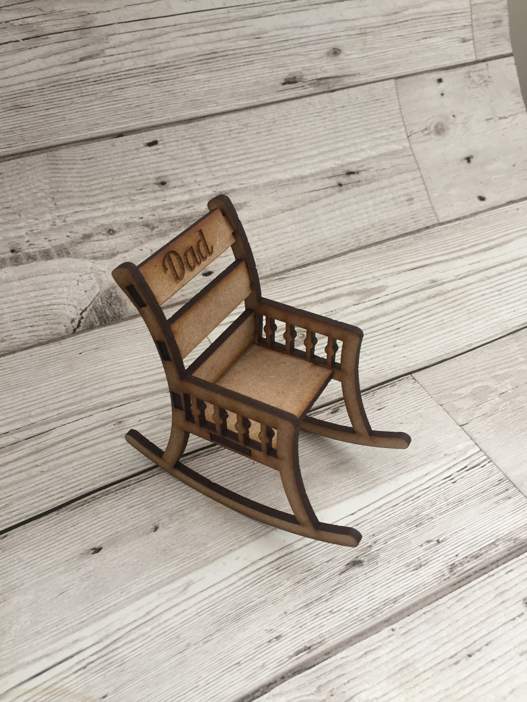 Wooden rocking chair - Laser LLama Designs Ltd