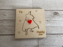 Load image into Gallery viewer, Wooden personalised 3D superhero card - Laser LLama Designs Ltd