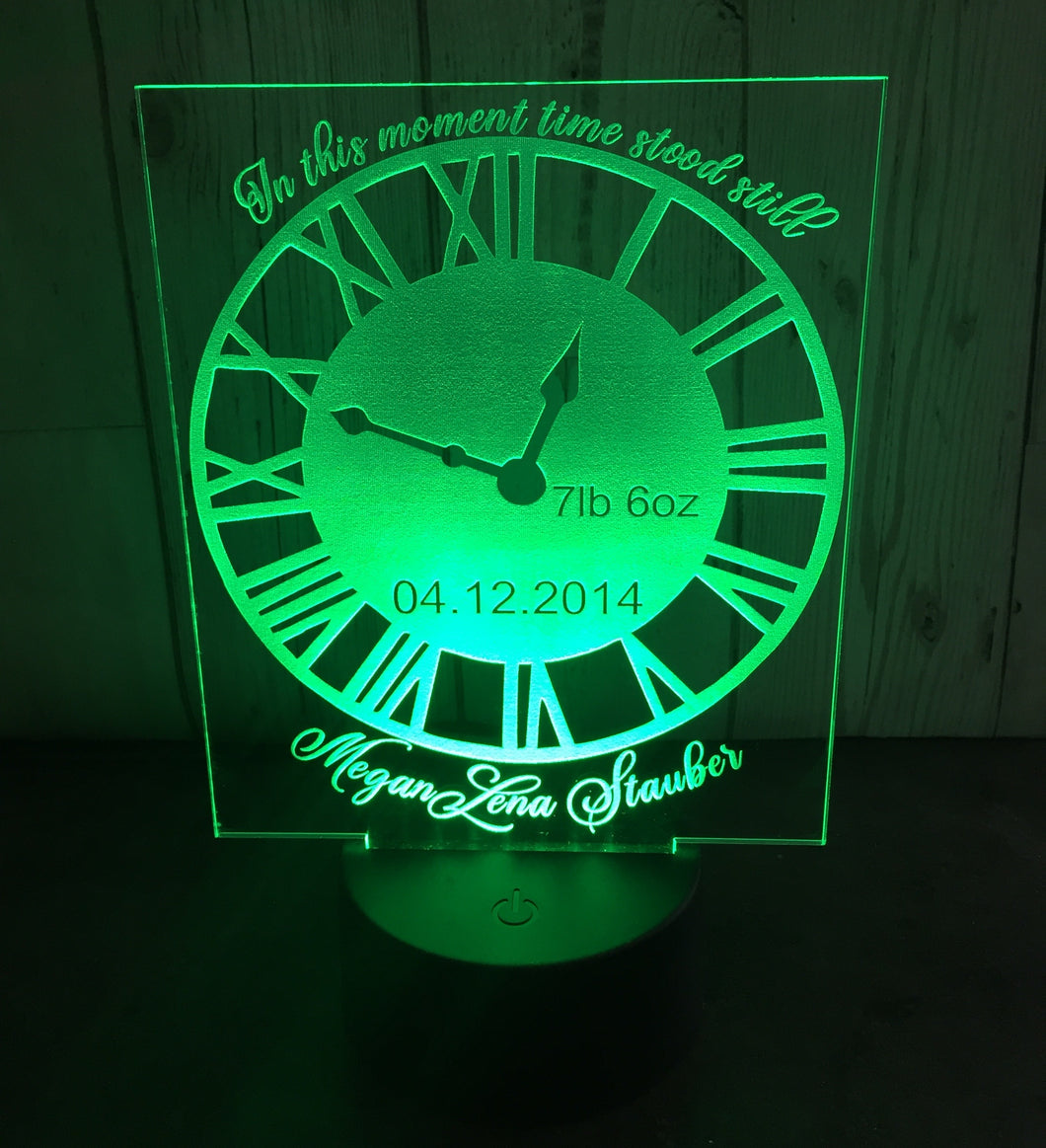 New baby light up clock display- 9 colour options with remote!