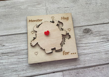 Load image into Gallery viewer, Wooden personalised 3D monster card - Laser LLama Designs Ltd