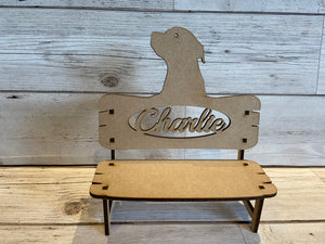 Personalised memorial bench different shapes - Laser LLama Designs Ltd