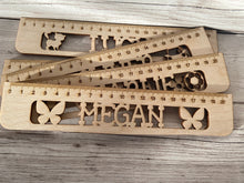 Load image into Gallery viewer, Wooden Personalised Ruler - Laser LLama Designs Ltd