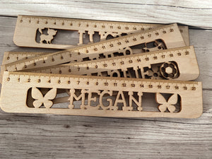 Wooden Personalised Ruler - Laser LLama Designs Ltd