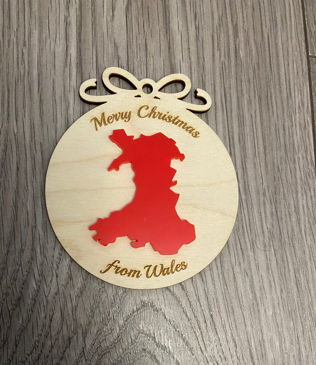 Merry Christmas from Wales bauble