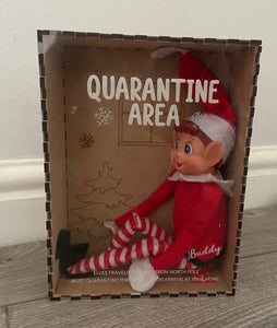 Wooden quarantine isolation box for elf