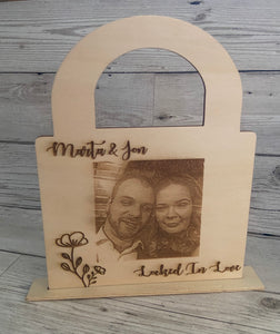 Personalised Locked In Love Padlock - Laser LLama Designs Ltd