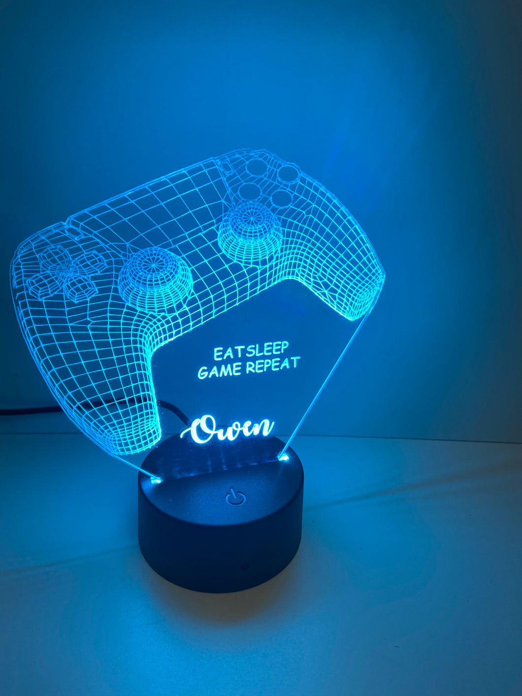 LED light up 3D  game controller display. 9 Colour options with remote!