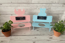 Load image into Gallery viewer, Acrylic  personalised miniature bench for plant pot