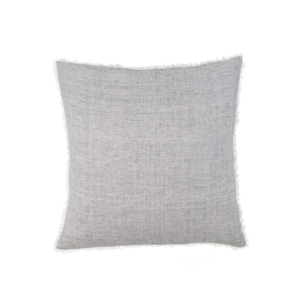 Gray & White Pinstripe Linen Pillow