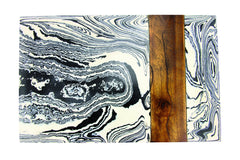 Black and White Marble and Wood Board
