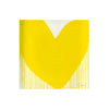 Yellow Drippy Heart Block of Love